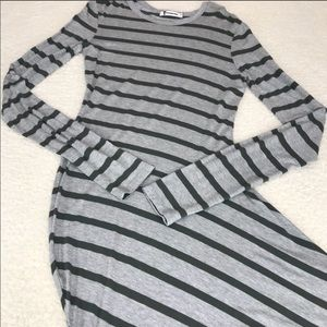 T by Alexander Wang Asymmetrical Striped Dress S